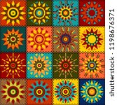 patchwork background with... | Shutterstock . vector #1198676371