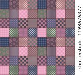 patchwork background with... | Shutterstock .eps vector #1198676377
