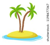 island with palm trees isolaed... | Shutterstock .eps vector #1198677367