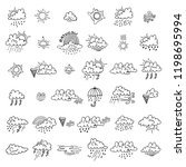 big set with cute hand drawn... | Shutterstock .eps vector #1198695994