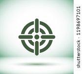 vector icon aim 10 eps | Shutterstock .eps vector #1198697101