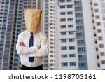 mysterious real estate agent | Shutterstock . vector #1198703161