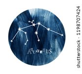 the aquarius constellation over ... | Shutterstock .eps vector #1198707424