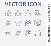 outline 12 head icon set. head... | Shutterstock .eps vector #1198707667