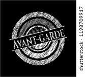 avant garde chalkboard emblem   Shutterstock .eps vector #1198709917