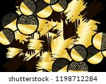 background with black and gold... | Shutterstock .eps vector #1198712284