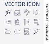 outline 12 sheet icon set....   Shutterstock .eps vector #1198713751