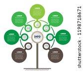 vertical timeline infographics. ... | Shutterstock .eps vector #1198718671