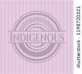 indigenous pink emblem   Shutterstock .eps vector #1198720321