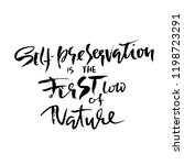 self preservation is the first... | Shutterstock .eps vector #1198723291