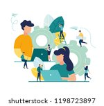 business concept of vector... | Shutterstock .eps vector #1198723897