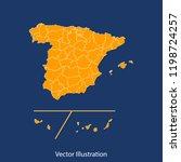 spain provinces map   high... | Shutterstock .eps vector #1198724257