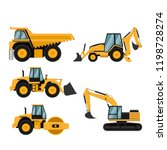 set of heavy construction and... | Shutterstock .eps vector #1198728274