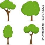 four vector trees on white... | Shutterstock .eps vector #119873221