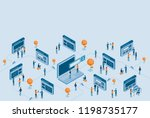 isometric  web page design... | Shutterstock .eps vector #1198735177