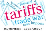 tariffs word cloud on a white... | Shutterstock .eps vector #1198735927