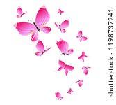 beautiful pink butterflies... | Shutterstock . vector #1198737241