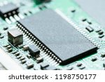 chip cpu on the board   Shutterstock . vector #1198750177