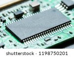 chip cpu on the board   Shutterstock . vector #1198750201