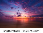 beautiful sunset sky on sea... | Shutterstock . vector #1198750324