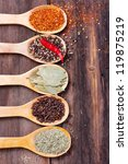 Five Kinds Of Spices In The...