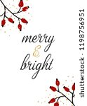 christmas design with red... | Shutterstock .eps vector #1198756951