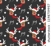 deer santa claus with star and... | Shutterstock .eps vector #1198759957