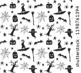 seamless vector pattern with... | Shutterstock .eps vector #1198761394