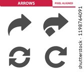 arrows icons. professional ... | Shutterstock .eps vector #1198764091