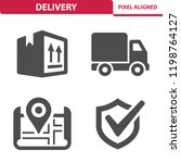 delivery icons. professional ... | Shutterstock .eps vector #1198764127
