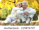 beautiful elderly couple... | Shutterstock . vector #119876737