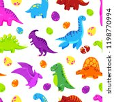 dinosaur cartoon vector... | Shutterstock .eps vector #1198770994