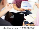 adult students group listen to... | Shutterstock . vector #1198783591