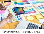professional creative architect ... | Shutterstock . vector #1198784761