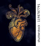 decorative naturalistic heart...   Shutterstock .eps vector #1198787791