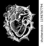 ornate decorative naturalistic...   Shutterstock .eps vector #1198787794