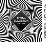 optical illusion lines... | Shutterstock .eps vector #1198795357