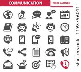communication   social media... | Shutterstock .eps vector #1198796041