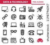 data   technology icons.... | Shutterstock .eps vector #1198796047