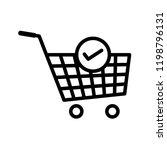 verified cart items e commerce... | Shutterstock .eps vector #1198796131