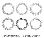 christmas laurel wreaths vector ... | Shutterstock .eps vector #1198799044