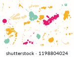 hand drawn set of colorful ink...   Shutterstock .eps vector #1198804024