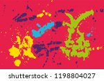 hand drawn set of colorful ink...   Shutterstock .eps vector #1198804027