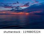 beautiful seascape after sunset ... | Shutterstock . vector #1198805224