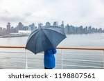 luxury travel cruise woman... | Shutterstock . vector #1198807561