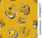 watercolor seamless pattern... | Shutterstock . vector #1198808977