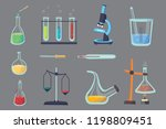 set   chemical test. flat... | Shutterstock . vector #1198809451