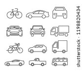 thin line icons set... | Shutterstock .eps vector #1198820434