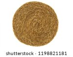 Round Hay Bale Isolated On A...