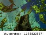 2d illustration. imaginary... | Shutterstock . vector #1198823587